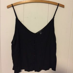 Forever21 Black Button Down Tank